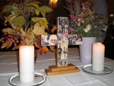altar cross with candles